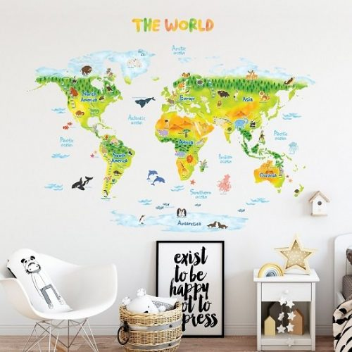 Decowall karta svijeta XL