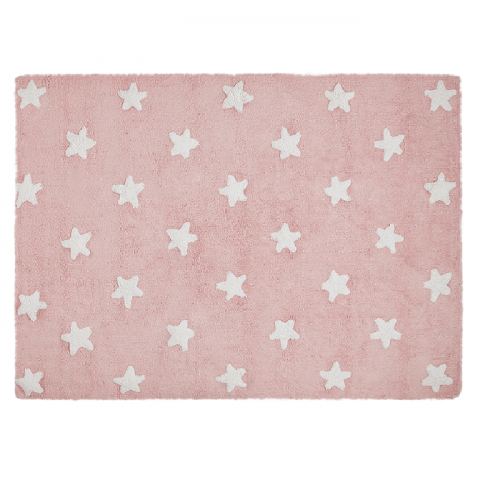 Tepih rozi/ bijele zvjezdice
