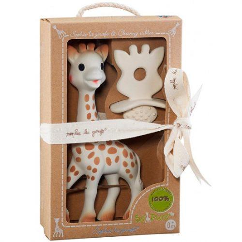Sophie žirafa za zubiće + prsten