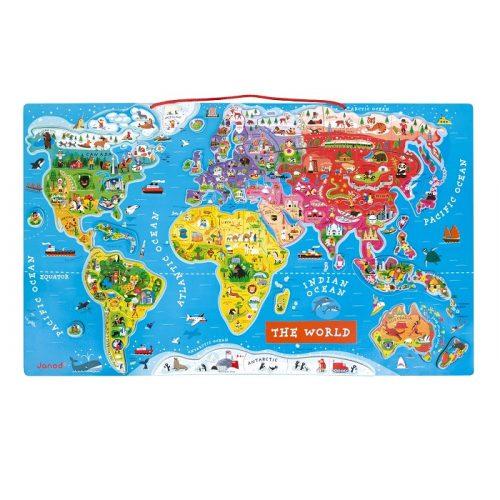 Karta svijeta s magnetima