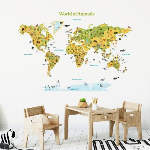 karta svijeta životinje